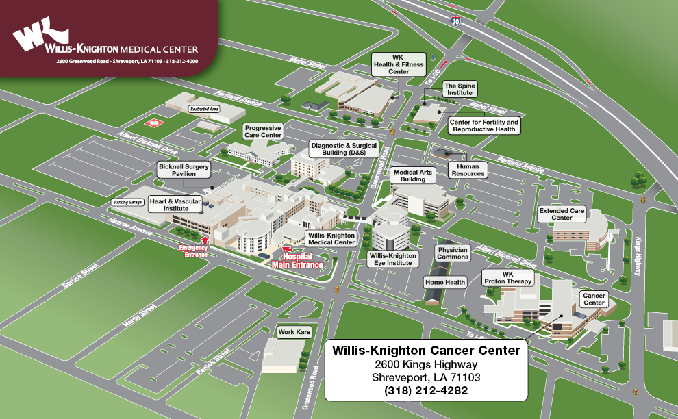 Map & Driving Directions - Contact Us - Willis-Knighton Cancer ...