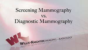 Screening Mammography vs. Diagnostic Mammography